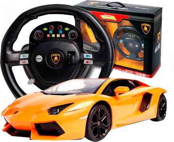 Радиоуправляемая игрушка Huan Qi Lamborghini Aventador LP700-4 HQ662 - варианты расцветки: желтый