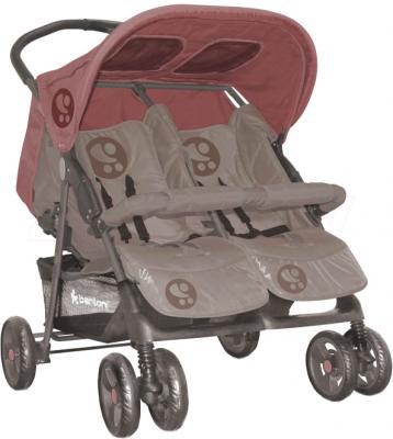 Детская прогулочная коляска Lorelli Twin (Beige-Terracotta) - общий вид