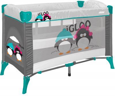 Кровать-манеж Lorelli Arena 2 (Gray Green Igloo) - общий вид