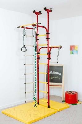 Детский спортивный комплекс Romana Олимпиец 1 ДСКМ-2-8.06.Т1.410.01-22 (красный/желтый)