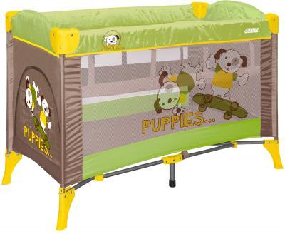 Кровать-манеж Lorelli Arena 2 (Green Beige Puppies) - общий вид