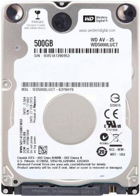 Жесткий диск Western Digital AV-25 500GB (WD5000LUCT) - общий вид
