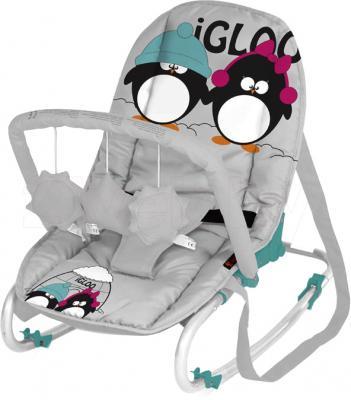 Детский шезлонг Lorelli Top Relax (Gray Green Igloo) - общий вид
