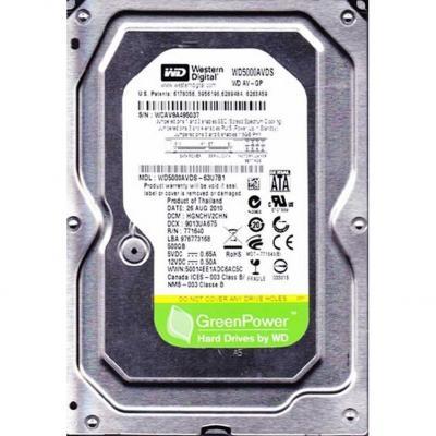 Жесткий диск Western Digital AV-GP 500GB (WD5000AVDS)