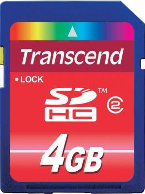 Карта памяти Transcend SDHC Class 2 4 Gb (TS4GSDHC2) - общий вид
