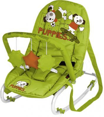 Детский шезлонг Lorelli Top Relax (Green Orange Puppies) - общий вид