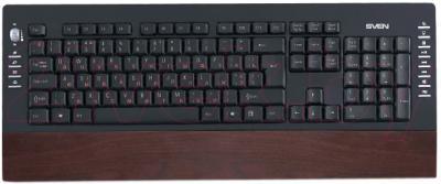Клавиатура Sven Comfort 4200 (дерево) - общий вид