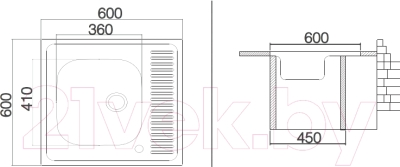 Мойка кухонная Asil AS24 (0.5мм, левая)