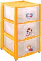 Комод пластиковый Пластишка 4313428 (3 ящика, желтый) -