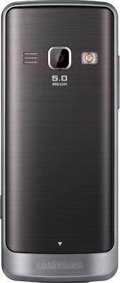Мобильный телефон Samsung S5611 (серебристый) - вид сзади