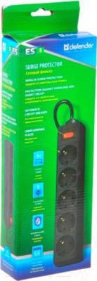 Сетевой фильтр Defender ES 99486 (5м, 5 розеток, черный)