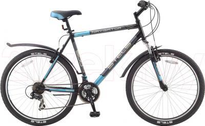 Велосипед Stels Navigator 500 (17.5, Black-Blue) - общий вид