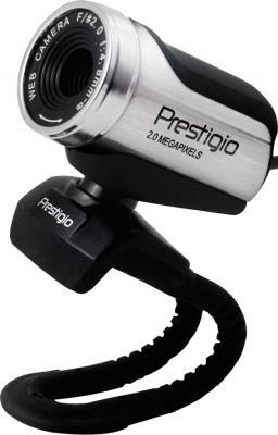 Веб-камера Prestigio PWC220HD (Black-Silver) - общий вид