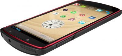 Смартфон Prestigio MultiPhone 7500 (16Gb, черный) - вид лежа