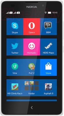 Смартфон Nokia X (White) - общий вид