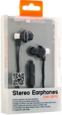 Наушники-гарнитура Canyon CNA-SEP01B (Black) - в упаковке