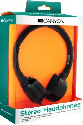 Наушники Canyon CNR-HP04NB (Black) - в упаковке