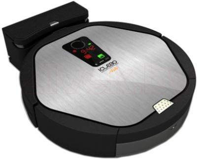Робот-пылесос iClebo Arte YCR-M05 (серебристый) - на зарядке
