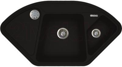 Мойка кухонная Florentina Капри (Black) - реальный цвет модели может немного отличаться
