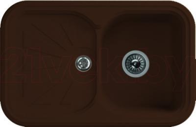 Мойка кухонная Florentina Крит-780 (Mokko) - реальный цвет модели может немного отличаться