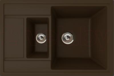 Мойка кухонная Florentina Липси-760К (Mokko) - реальный цвет модели может немного отличаться