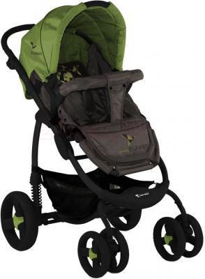 Детская универсальная коляска Lorelli Avio (Beige Green Planet) - прогулочный вариант