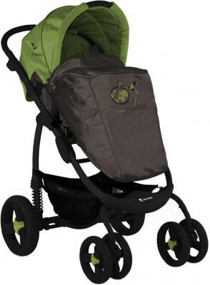 Детская универсальная коляска Lorelli Avio (Beige Green Planet) - с чехлом для ног