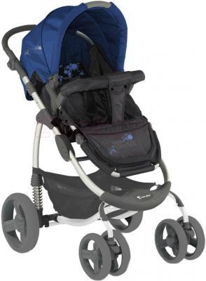 Детская универсальная коляска Lorelli Avio (Gray Blue World) - прогулочный вариант