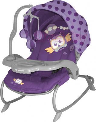 Детский шезлонг Lorelli Dream Time (Violet Baby Owl) - общий вид