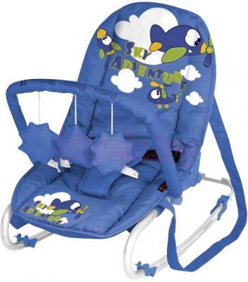 Детский шезлонг Lorelli Top Relax (Blue Sky Adventure) - общий вид
