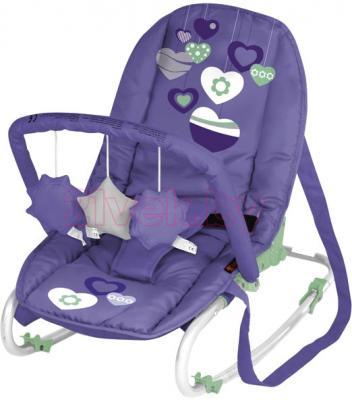 Детский шезлонг Lorelli Top Relax (Violet Hearts) - общий вид