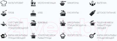 Мультиварка-скороварка Redmond RMC-M140 - основные программы