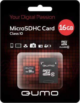 Карта памяти Qumo microSDHC (Class 10) 8GB (QM8GMICSDHC10) - общий вид