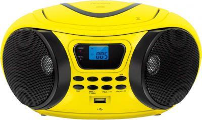 Магнитола BBK BX107U (желто-черный) - общий вид