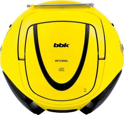 Магнитола BBK BX107U (желто-черный) - вид сверху