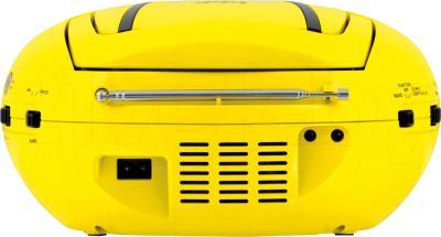 Магнитола BBK BX107U (желто-черный) - вид сбоку