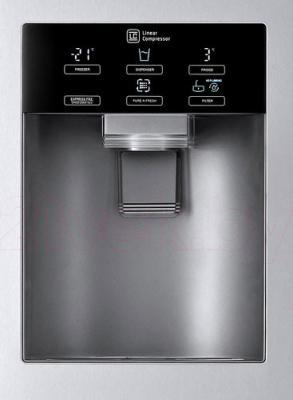 Холодильник с морозильником LG GC-J237JAXV - диспенсер с охлажденной водой и льдом