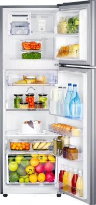 Холодильник с морозильником Samsung RT25FARADSA/WT - пример заполненного холодильника