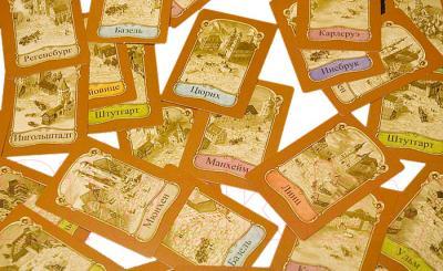 Настольная игра Мир Хобби Турн и Таксис: Королевская почта - игровое поле и фигурки