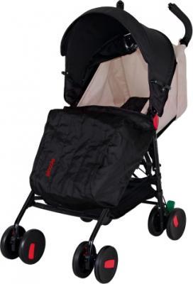 Детская прогулочная коляска Coletto Piccolo (Black) - с чехлом для ног