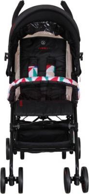Детская прогулочная коляска Coletto Piccolo (Black) - вид спереди
