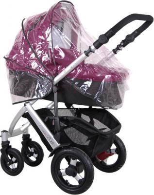 Детская универсальная коляска Coletto Dante 3 в 1 (фиолетовый) - с дождевиком