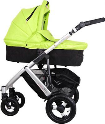 Детская универсальная коляска Coletto Dante 3 в 1 (светло-зеленый) - люлька