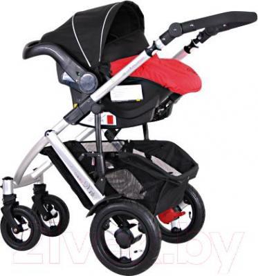 Детская универсальная коляска Coletto Dante 3 в 1 (красный) - с автокреслом