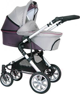 Детская универсальная коляска Coletto Giovanni 3 в 1 (серый) - люлька