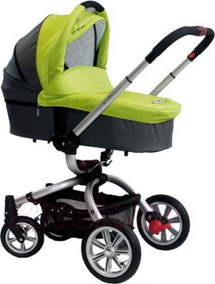 Детская универсальная коляска Coletto Marco Polo 2 в 1 (светло-зеленый) - люлька