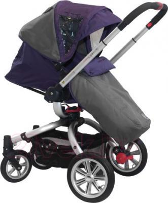 Детская универсальная коляска Coletto Marco Polo 3 в 1 (фиолетовый) - прогулочный вариант