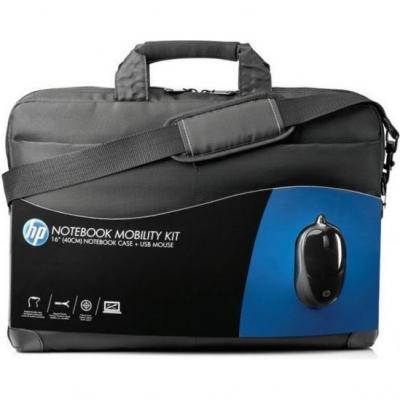 Сумка для ноутбука HP Notebook Mobility Kit H6L24AA (+ мышь) - общий вид