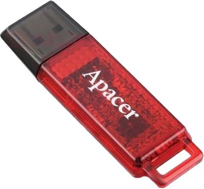 Usb flash накопитель Apacer Handy Steno AH324 Red 4GB (AP4GAH324R-1) - общий вид