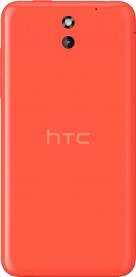 Смартфон HTC Desire 610 (оранжевый) - вид сзади